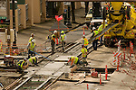 Streetcar Railroad Construction in Portland, Oregon