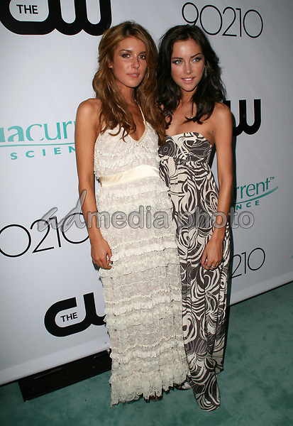 "23 August 2008 - Malibu, California - Shenae Grimes and Jessica Stroup. CW Network's ""90210"" Premiere Party held at a Private Location. Photo Credit: Faye Sadou/AdMedia"
