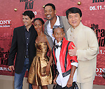Ralph Macchio,Will Smith,Jada Pinkett-Smith,Jaden Smith & Jackie Chan at the Columbia pictures L.A. Premiere of The Karate Kid held at The Mann Village Theatre in Westwood, California on June 07,2010                                                                               © 2010 Debbie VanStory / Hollywood Press Agency