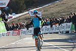 Miguel Angel Lopez (COL) Astana wins Stage 4 of the Volta Ciclista a Catalunya 2019 running 150.3km from Llanars (Vall De Camprodon) to La Molina (Alp), Spain. 28th March 2019.<br /> Picture: Colin Flockton | Cyclefile<br /> <br /> <br /> All photos usage must carry mandatory copyright credit (© Cyclefile | Colin Flockton)