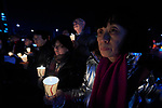 Ann Hon of the Hong Kong Council of the Church of Christ in China participates in a candlelight vigil for peace in the Korean Peninsula on December 9, 2017, in Gwanghwamun Square in Seoul, South Korea. The ecumenical Advent vigil was part of &quot;A Light of Peace&quot; campaign sponsored by the World Council of Churches and the National Council of Churches of Korea.<br /> <br /> Hon was in Seoul to participate in a WCC Consultation on Ecumenical Diakonia. <br /> <br /> The candlelight vigils were held in Seoul December 3-9, after which churches throughout the country planned to continue the vigils in small towns and villages.