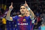 League LNFS 2017/2018 - Game 10.<br /> FC Barcelona Lassa vs CA Osasuna Magna: 3-3.<br /> Adolfo &amp; Rivillos.