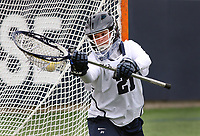 Penn State goalkeeper Madison Cunningham (21) warms up before the game against Ohio State on April 1, 2017. No. 6 Nittany Lions won 16-12 over the Buckeyes.  Photo/©2017 Craig Houtz