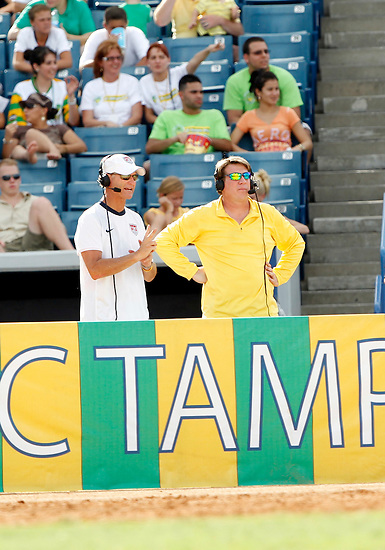 JULY 25, 2010; TAMPA, FLORIDA: Radio broadcaster Mike Pepper of the FC Tampa Bay Rowdies during a game against Miami FC at Steinbrenner Field in Tampa, Florida. The Rowdies won 2-0. Photo by Matt May/FC Tampa Bay Rowdies