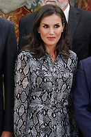 MADRID, SPAIN - October 08: King Felipe VI of Spain, Queen Letizia of Spain attended an Audience to the Board of Directors of the European and Spanish Academy of Dermatology and Venereology at Zarzuela Palace in Madrid, Spain. October 08, 2019. ***NO SPAIN***<br /> CAP/MPI/RJO<br /> ©RJO/MPI/Capital Pictures
