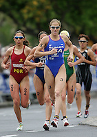 09 MAY 2004 - FUNCHAL, MADEIRA - Laura Reback (USA) - Elite Womens World Triathlon Championships. (PHOTO (C) NIGEL FARROW)