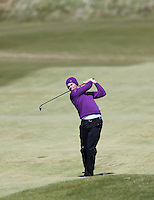 Sunday 31st May 2015; Danny Willett, England, plays his approach to the 18th green<br /> <br /> Dubai Duty Free Irish Open Golf Championship 2015, Round 4 County Down Golf Club, Co. Down. Picture credit: John Dickson / DICKSONDIGITAL