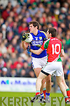 Eoin Brosnan Kerry in action against Kevin McLoughlin Mayo in the National Football League in Austin Stack Park on Sunday..