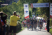 the grupetto in the last 3km<br /> <br /> stage 16: Luarca - Ermita de Alba<br /> 2015 Vuelta &agrave; Espagna