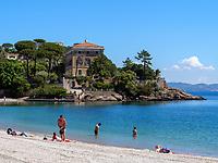 Villa auf Capo Scandelli und Strand, Cavo, Elba, Region Toskana, Provinz Livorno, Italien, Europ<br /> Villa  on Capo Scandelli and beach, Cavo, Elba, Region Tuscany, Province Livorno, Italy, Europea