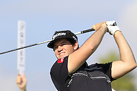 Ricardo Gouveia (POR) tees off the 10th tee during Thursday's Round 1 of the 2016 Portugal Masters held at the Oceanico Victoria Golf Course, Vilamoura, Algarve, Portugal. 19th October 2016.<br /> Picture: Eoin Clarke   Golffile<br /> <br /> <br /> All photos usage must carry mandatory copyright credit (© Golffile   Eoin Clarke)