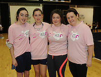 17th November 2013; Michaela McCartan, Aoife Neyret, Clodagh Neville and Aileen Havern. She's Ace - Women in handball event, Breaffy House Sports Arena, Castlebar, Co Mayo. Picture credit: Tommy Grealy/actionshots.ie.