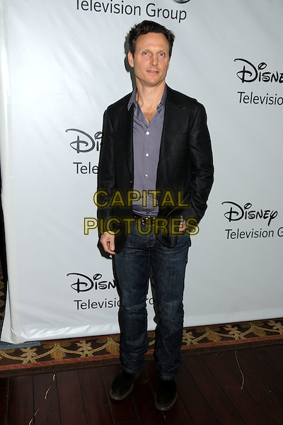 Tony Goldwyn.Disney ABC 2012 TCA Winter Press Tour held at the Langham Huntington Hotel, Pasadena, California, USA..January 10th, 2012.full length jacket jeans denim hand in pocket black purple shirt .CAP/ADM/BP.©Byron Purvis/AdMedia/Capital Pictures.