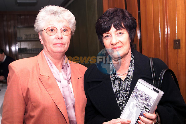 Doreen Fagan and Marie Holdcroft at the launch of the new video in the MMM's on  Thursday night..Picture Paul Mohan Newsfile