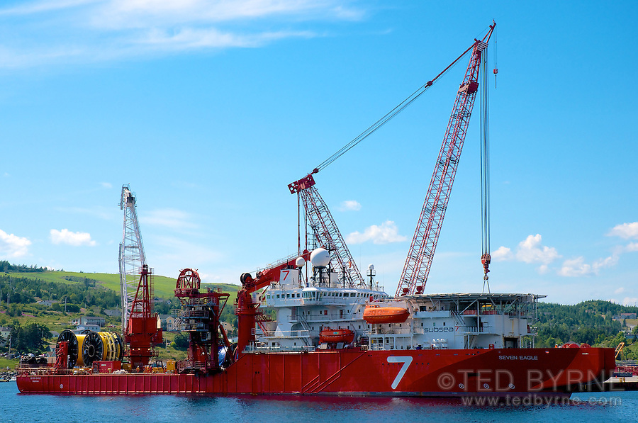 Seven Eagle diving support vessel at dock | Ted Byrne Photography