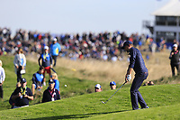 Webb Simpson (Team USA) chips onto the 9th green during Saturday's Foursomes Matches at the 2018 Ryder Cup 2018, Le Golf National, Ile-de-France, France. 29/09/2018.<br /> Picture Eoin Clarke / Golffile.ie<br /> <br /> All photo usage must carry mandatory copyright credit (© Golffile | Eoin Clarke)