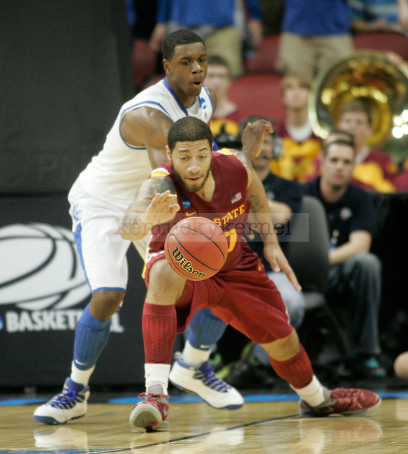 Iowa State forward Royce White loses the ball during the second half of the UK vs. Iowa State NCAA third round game at the KFC Yum! Center March 17, 2012. Photo by Brandon Goodwin   Staff