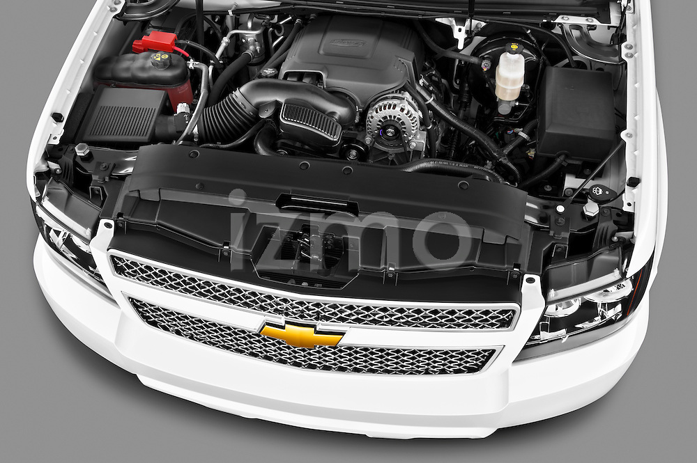 High angle engine detail of a 2012 Chevrolet Suburban LTZ  .