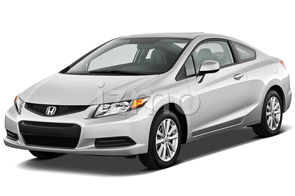 Front three quarter view of a 2012 Honda Civic Coupe EX.