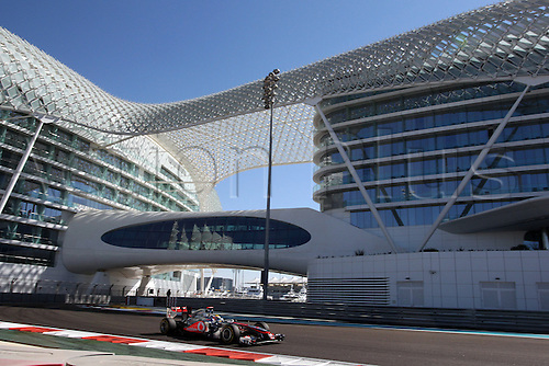 11.11.2011 Abu Dhabi, United Arab Emirates. Yas Marina Circuit, Lewis Hamilton, McLaren Mercedes, .., during the practice day of the FIA Formula One Grand Prix of Abu Dhabi UAE.