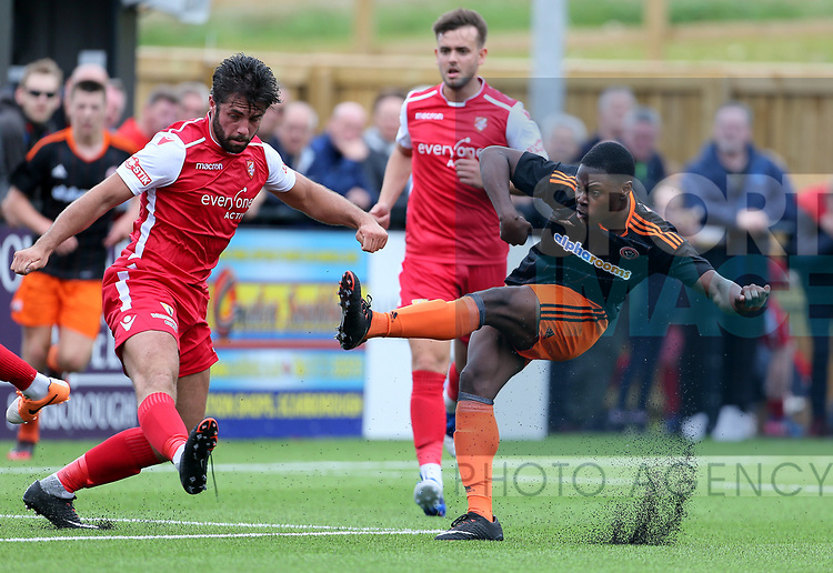 Francis Amarty of Sheffield Utd (trialist in this game) during the pre season match at the Flamingo Land Stadium, Scarborough. Picture date 15th July 2017. Picture credit should read: Richard Sellers/Sportimage