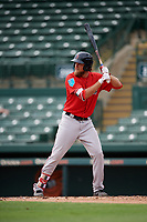 Boston Red Sox Trey Ball (57) at bat during a Florida Instructional League game against the Baltimore Orioles on October 8, 2018 at the Ed Smith Stadium in Sarasota, Florida.  (Mike Janes/Four Seam Images)