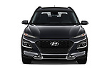 Car photography straight front view of a 2018 Hyundai Kona SEL AUTO 5 Door SUV