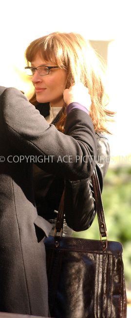 WWW.ACEPIXS.COM . . . . .  ....NEW YORK, NOVEMBER 18, 2005....Uma Thurman on the set of 'Super Ex Girlfriend' filming downtown.....Please byline: AJ Sokalner - ACE PICTURES..... *** ***..Ace Pictures, Inc:  ..Philip Vaughan (212) 243-8787 or (646) 769 0430..e-mail: info@acepixs.com..web: http://www.acepixs.com