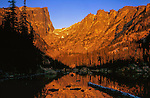 Dream Lake and Hallett Peak at sunrise. From John's 3rd book: &quot;Mastering Nature Photography.&quot;<br />