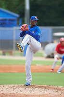 Toronto Blue Jays pitcher Gustavo Pierre (60) during an instructional league game against the Philadelphia Phillies on September 28, 2015 at the Englebert Complex in Dunedin, Florida.  (Mike Janes/Four Seam Images)
