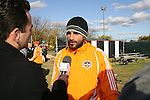 16 November 2007: Dwayne De Rosario (CAN). The Houston Dynamo practiced at the RFK Stadium Auxiliary Field in Washington, DC two days before playing in MLS Cup 2007, Major League Soccer's championship game.