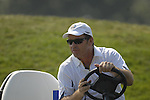 European Team Captain Nick Faldo drives down the 1st hole during the Singles on the Final Day of the Ryder Cup at Valhalla Golf Club, Louisville, Kentucky, USA, 21st September 2008 (Photo by Eoin Clarke/GOLFFILE)