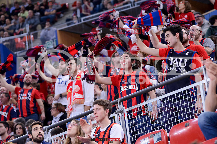 Baskonia's supporters during Quarter Finals match of 2017 King's Cup at Fernando Buesa Arena in Vitoria, Spain. February 16, 2017. (ALTERPHOTOS/BorjaB.Hojas) /Nortephoto.com