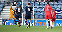 Raith's Greig Spence (right) scores Rovers' goal ...