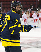 Jonathan Lashyn (Merrimack - 7) - The visiting Merrimack College Warriors defeated the Boston University Terriers 4-1 to complete a regular season sweep on Friday, January 27, 2017, at Agganis Arena in Boston, Massachusetts.The visiting Merrimack College Warriors defeated the Boston University Terriers 4-1 to complete a regular season sweep on Friday, January 27, 2017, at Agganis Arena in Boston, Massachusetts.
