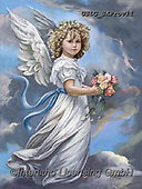 CHILDREN, KINDER, NIÑOS, paintings+++++,USLGSKPROV11,#K#, EVERYDAY ,Sandra Kock, victorian ,angels