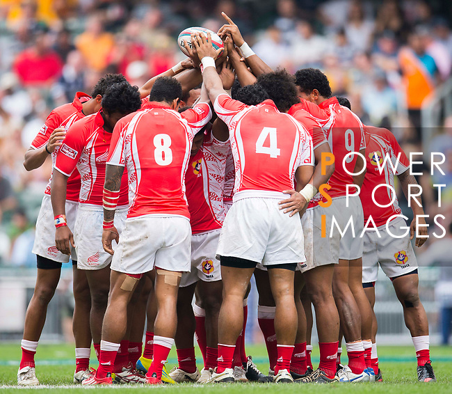 Tonga play Chinese Taipei on Day 2 of the Cathay Pacific / HSBC Hong Kong Sevens 2013 on 23 March 2013 at Hong Kong Stadium, Hong Kong. Photo by Victor Fraile / The Power of Sport Images