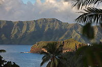 Atuona Bay, on the island of Hiva Oa, in the Marquesas Islands, French Polynesia. Picture by Manuel Cohen