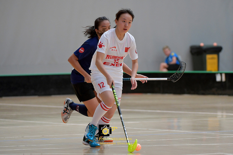 China's Yifan Yao in action during the World Floorball Championships 2017 Qualification for Asia Oceania Region - Malaysia v China at ASB Sports Centre , Wellington, New Zealand on Sunday 5 February 2017.<br /> Photo by Masanori Udagawa<br /> www.photowellington.photoshelter.com.