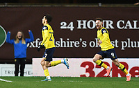 4th February 2020; Kassam Stadium, Oxford, Oxfordshire, England; English FA Cup Football; Oxford United versus Newcastle United; Nathan Holland of Oxford celebrates scoring in extra time to bring the scores level 2-2