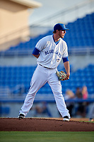 Dunedin Blue Jays starting pitcher Patrick Murphy (25) during a game against the Tampa Tarpons on June 2, 2018 at Dunedin Stadium in Dunedin, Florida.  Dunedin defeated Tampa 4-0.  (Mike Janes/Four Seam Images)