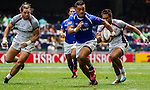 Unites States vs Samoa during the HSBC Sevens Wold Series Cup Quarter Finals match as part of the Cathay Pacific / HSBC Hong Kong Sevens at the Hong Kong Stadium on 29 March 2015 in Hong Kong, China. Photo by Manuel Bruque / Power Sport Images