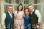 Charity Ball : Pictutred at the the charity fundraiser ball in aid of Neurofibromatosis Association of Ireland in the Listowel Arms Hotel on Saturday night last were Ger & Teresa Farnan, Shannon Brady & Blayne Farnan.