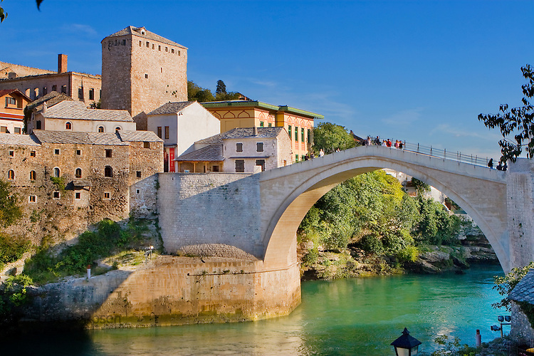 The 'new Old Bridge' over the Neretza River in Mostar, Hercegovina