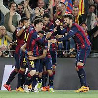 Esultanza Gol Neymar con Lionel Messi Goal celebration <br /> Barcellona 06-05-2015 Camp Nou Football Calcio 2014/2015 Champions League Semifinale Barcellona - Bayern 3-0<br /> Foto EXPA/ Eibner-Pressefoto/ Schueler/Insidefoto