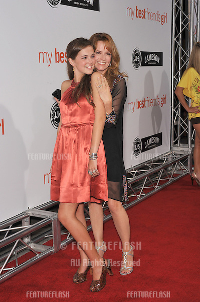 "Lea Thompson & daughter Zoey Deutch at the world premiere of ""My Best Friend's Girl"" at the Cinerama Dome, Hollywood..September 15, 2008  Los Angeles, CA.Picture: Paul Smith / Featureflash"