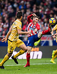 Kevin Gameiro (R) of Atletico de Madrid in action as he fights for the ball with Bernardo Jose Espinosa Zuniga of Girona FC during the La Liga 2017-18 match between Atletico de Madrid and Girona FC at Wanda Metropolitano on 20 January 2018 in Madrid, Spain. Photo by Diego Gonzalez / Power Sport Images