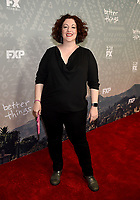 """SANTA MONICA - FEBRUARY 26: Rebecca Metz arrives at the red carpet event for FX's """"Better Things"""" Season Three Premiere at the The Eli and Edythe Broad Stage on February 26, 2019 in Santa Monica, California. (Photo by Frank Micelotta/FX/PictureGroup)"""