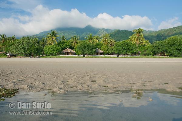 Tua Koin resort, a small lodge on the beach near Vila on Atauro Island, Timor-Leste (East Timor)
