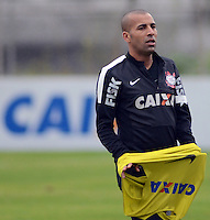 SÃO PAULO,SP, 25 Junho 2013 -  Emerson Sheik durante treino do Corinthians no CT Joaquim Grava na zona leste de Sao Paulo, onde o time se prepara  para o campeonato brasileiro. FOTO ALAN MORICI - BRAZIL FOTO PRESS
